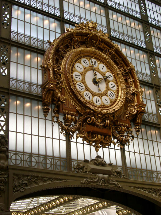 interior of the musee d'orsay, paris france