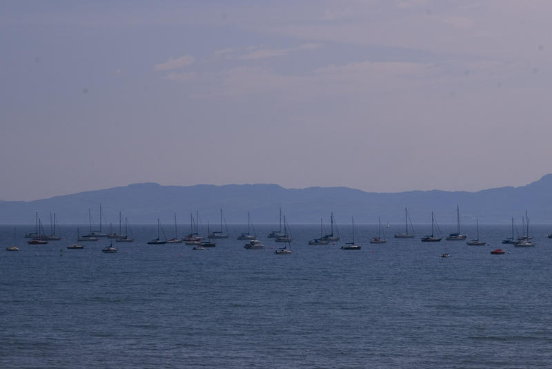 sailing yachts on the welsh coast