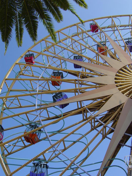 a theme park 'big wheel' ride - not model released