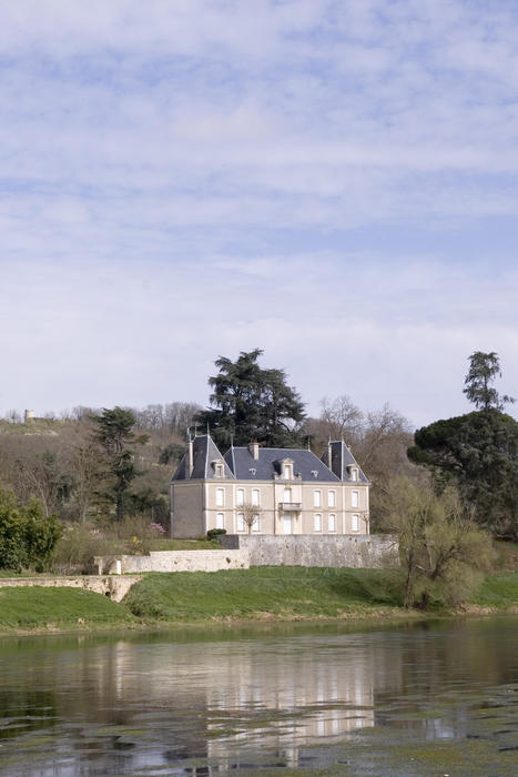 a stately home in rural france