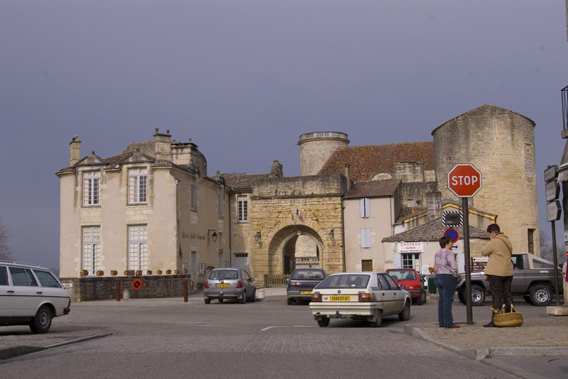 buildings in a small french town