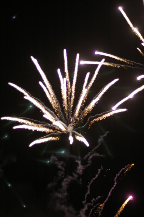 a bonfire night fireworks display