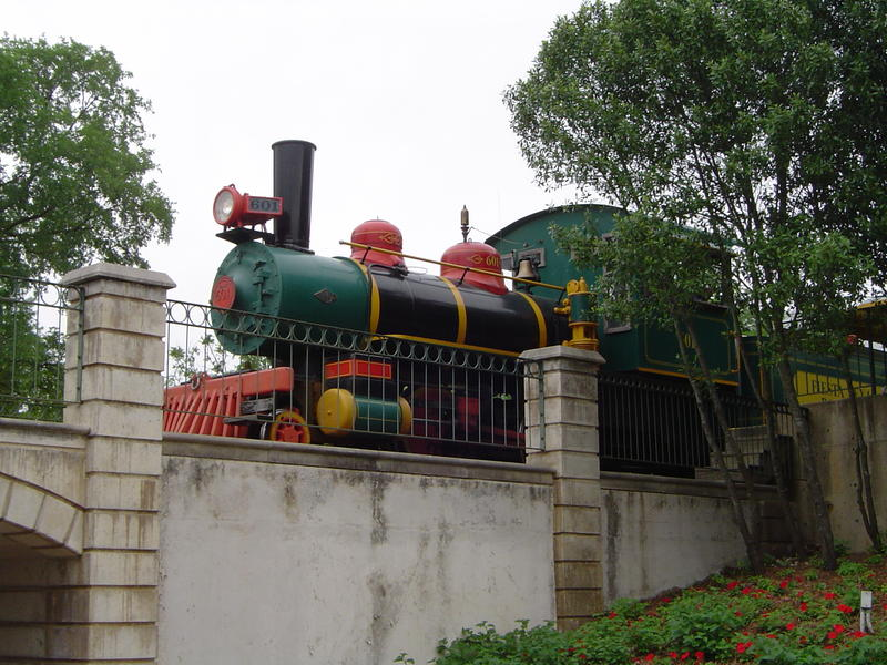 a themepark railway steam locomotive - not model released