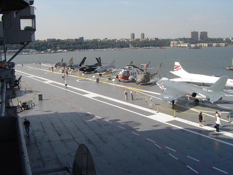 uss intrepid, former naval vessel acts as a new york museum location