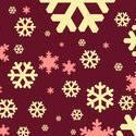 1532-burgundy snowflakes