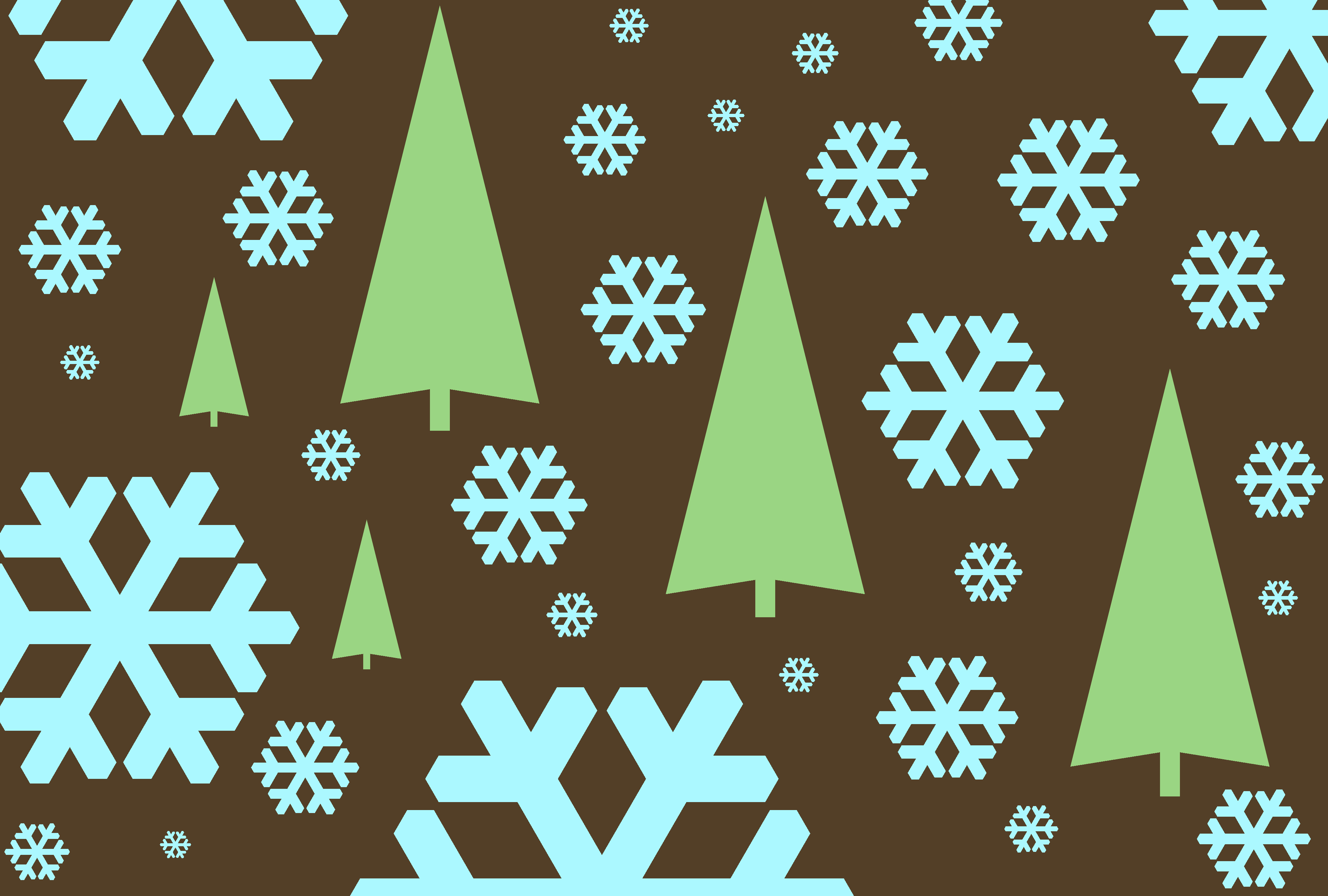 Free Stock Photo 1533 Graphic Snowflakes And Trees Freeimageslive