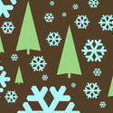 stock image 1533-graphic snowflakes and trees