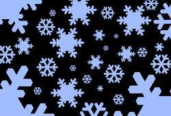 1535-graphic snowflakes black