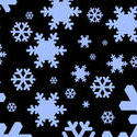1535-graphic snowflakes black