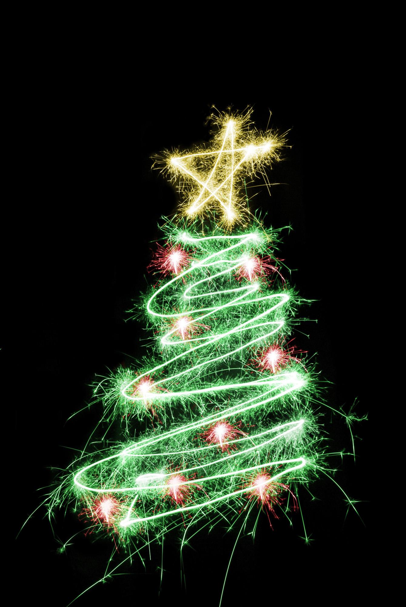Free Stock Photo 1453-sparking xmas tree | freeimageslive