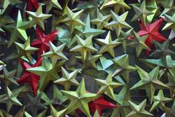 1456-Metal Xmas Stars
