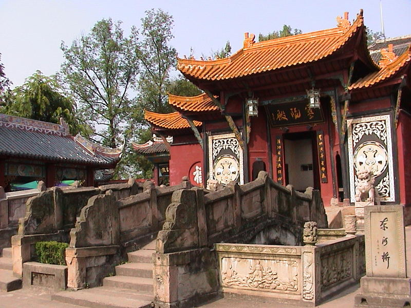 Pagoda shrine at Fengdu on river Yangtze, China