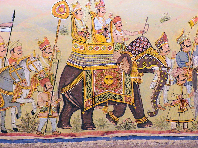 Mural at Fort Chanwa, Rajasthan, India
