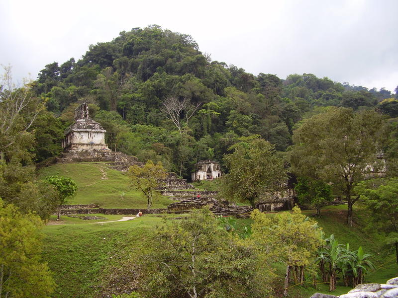 ruins of the mayan civilisation at palenque, Mexico