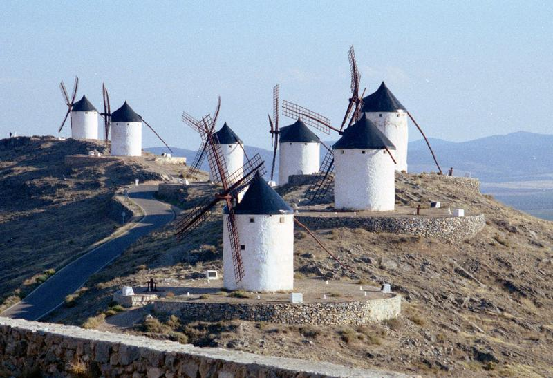 <p>Windmills at Consuegra in central Spain</p>