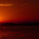 1733-Red Caribbean Sunset