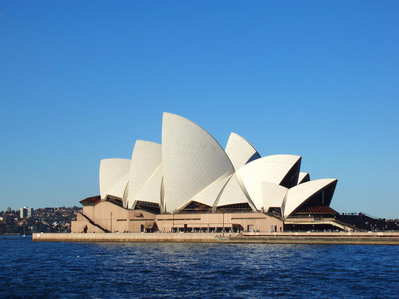 the iconic landmark sydney opera house, not property released