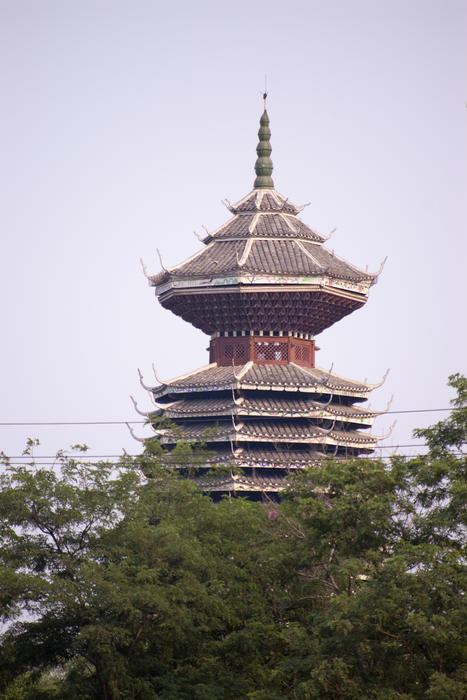 a multi tiered pagoda in beijing