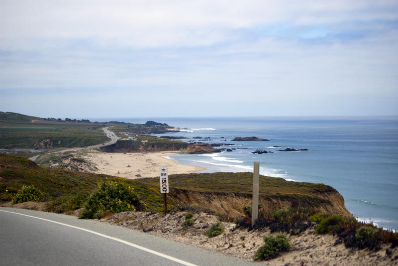 a view from the drive along the scenic highway 1 california's coast road