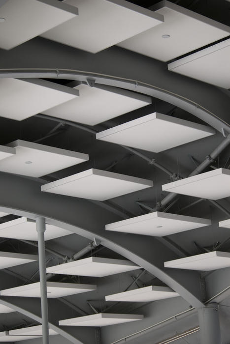 editorial use: ceiling tiles in the roof of the Academy of sciences, golden gate park, san francisco