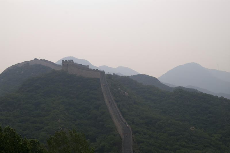 a view along the great wall of china