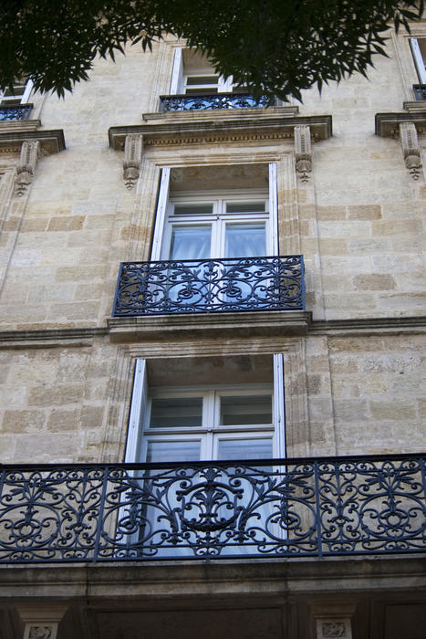 traditional french town architecture french windows opening on to juliette balconies