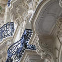 2788-ornate cast iron balconies