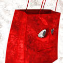 2104   red shopping bag