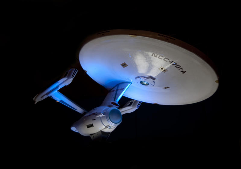 a model of the startship enterprise from star trek