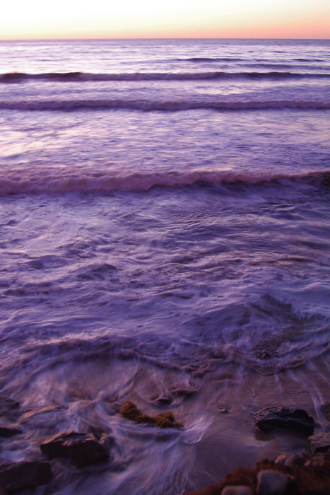 2567-purple ocean at sunset