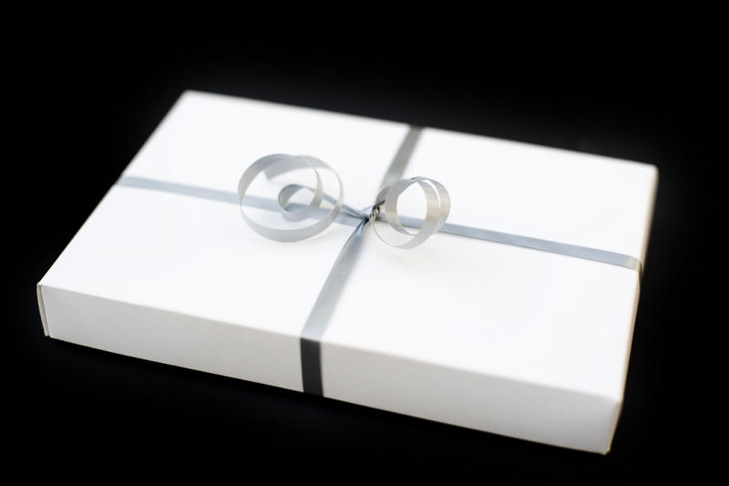 2143-white wrapped gift