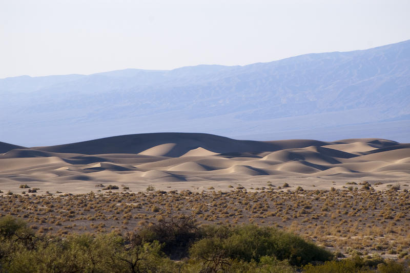 sandy dunes in death valley