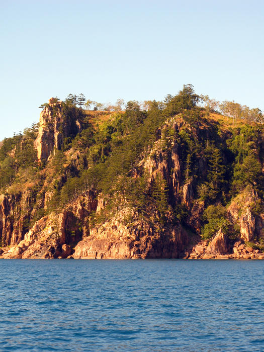 steep cliffs on the north end of hayman island