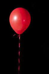 3836-red floating balloon