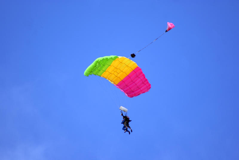 <p>Skydiving in tandem</p>Tandem Parachuting