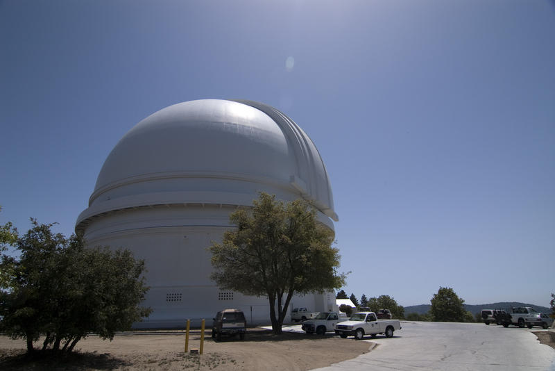 the dome of the palomar observatory near san diego, california