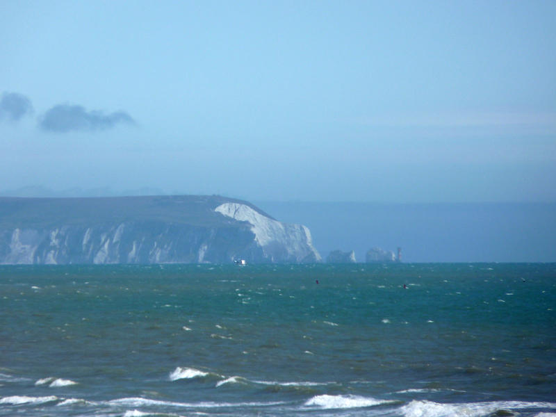 <p>&nbsp;The western tip of the IoW showing the Needles and the &quot;Polar Bear&quot;.Jpg.</p>