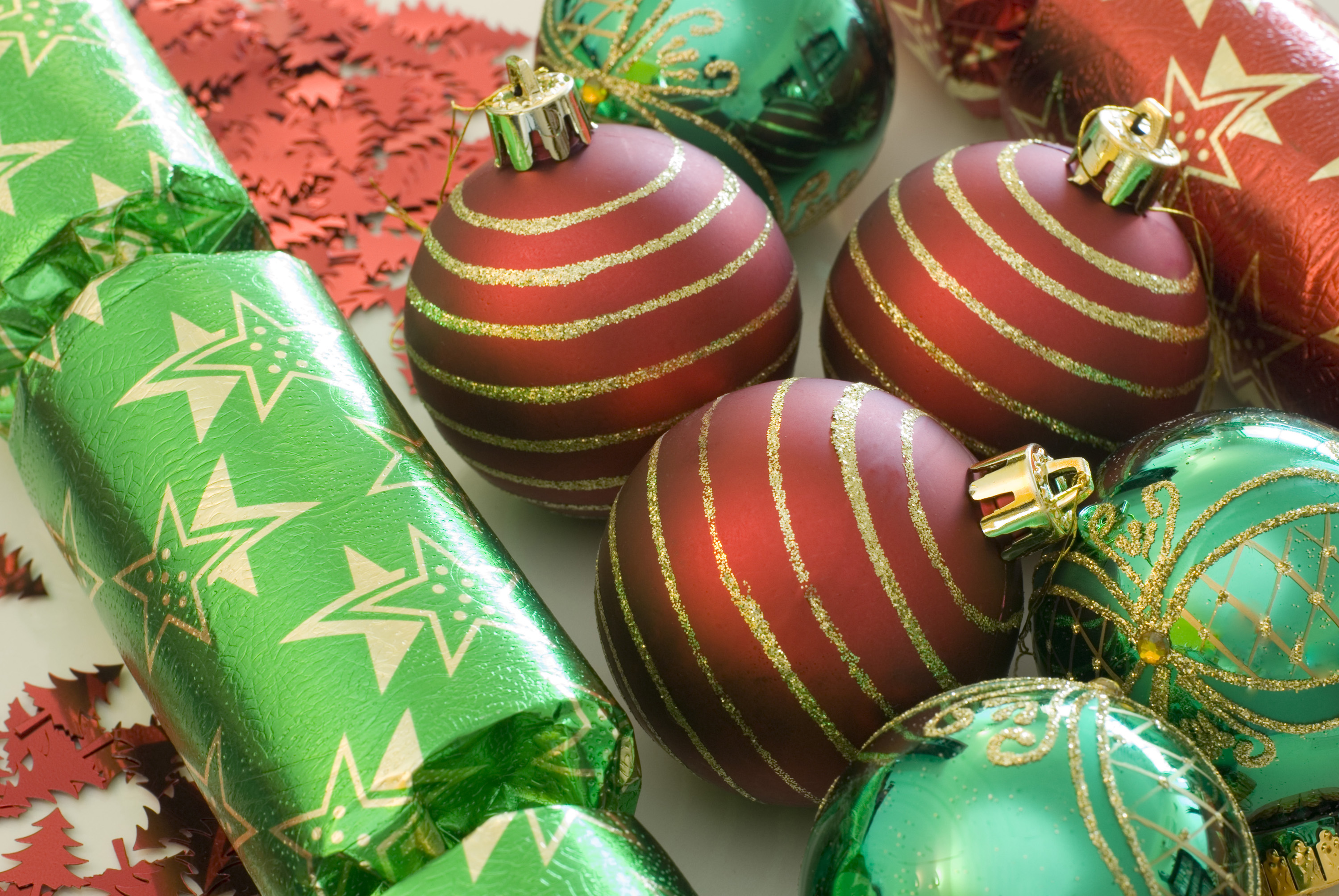 Free stock photo 3631 red and green decorations for Red white green christmas decor
