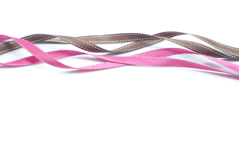 a background composed of twisted ribbons on a white backdrop
