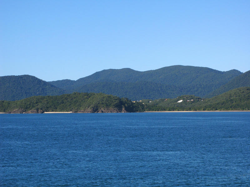 houses built on the headland at shute harbour, whitsundays, QLD