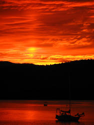 3392-flame red sunset sky