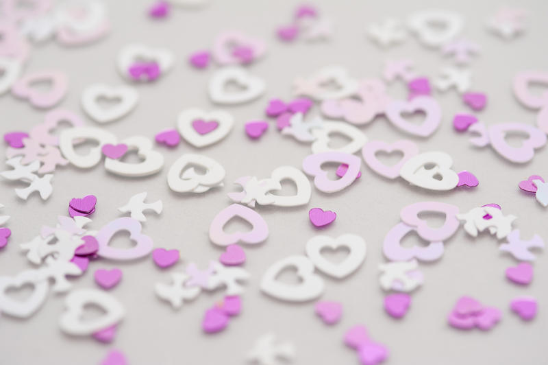 a valentine background of love heart shapes