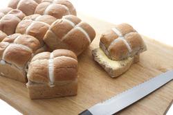 5047   Buttered Fresh Hot Cross Buns