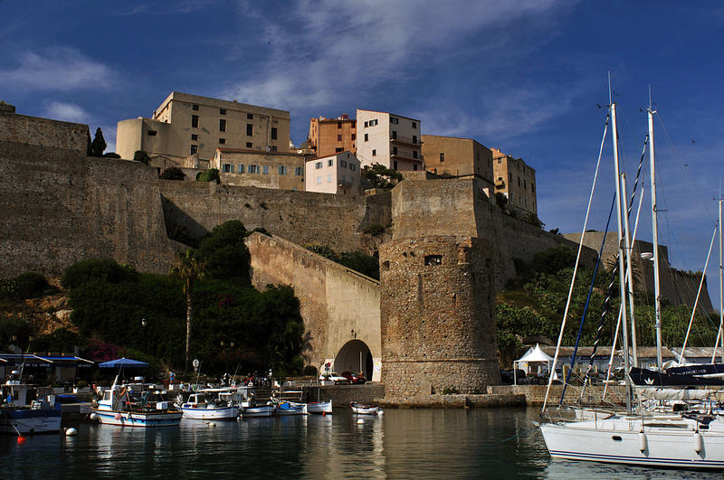 The citadel in Calvi, built by the Genoese between the 13th & 15th centuries