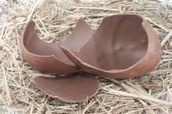 5058   Chocolate Egg On Straw