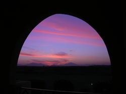 4437   egypt sunset arch