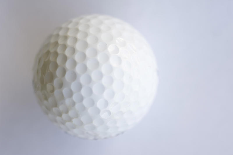 a plain golf wall on a white background