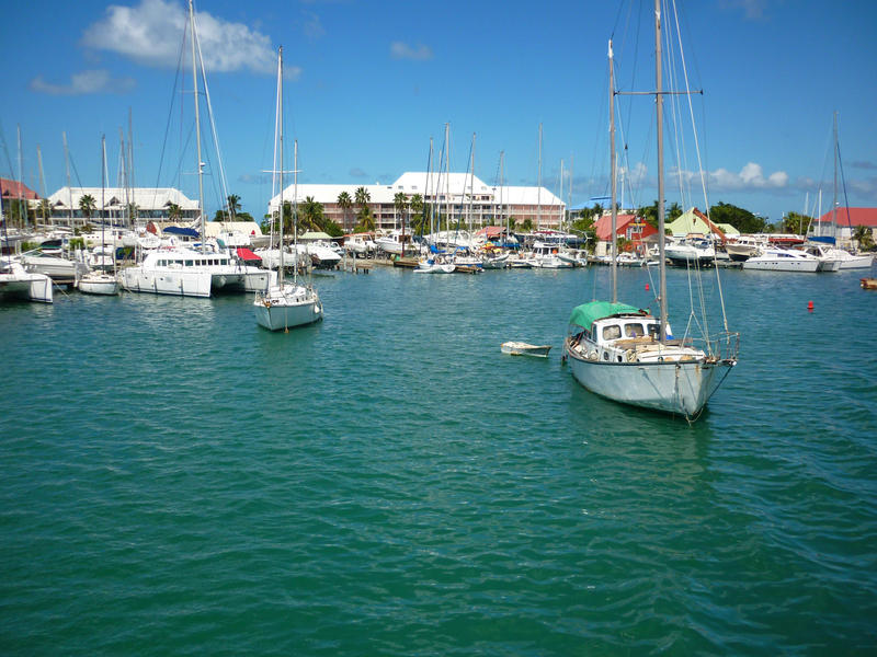yachts in sheltered waters off the island of st maarten