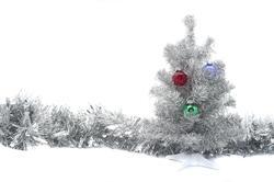 4711   christmas tree and tinsel