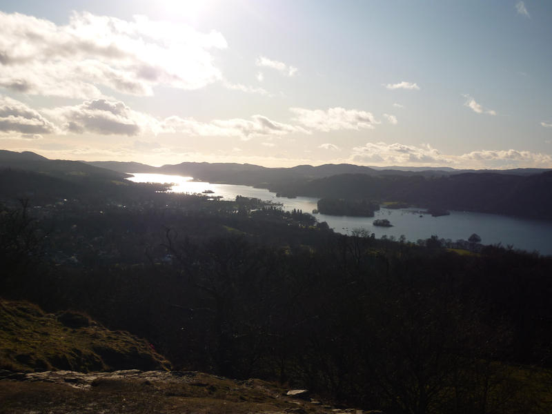 lake windermere in the english lakes on a sunny afternoon